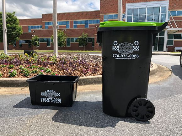 65 gallon recycling rolling cart